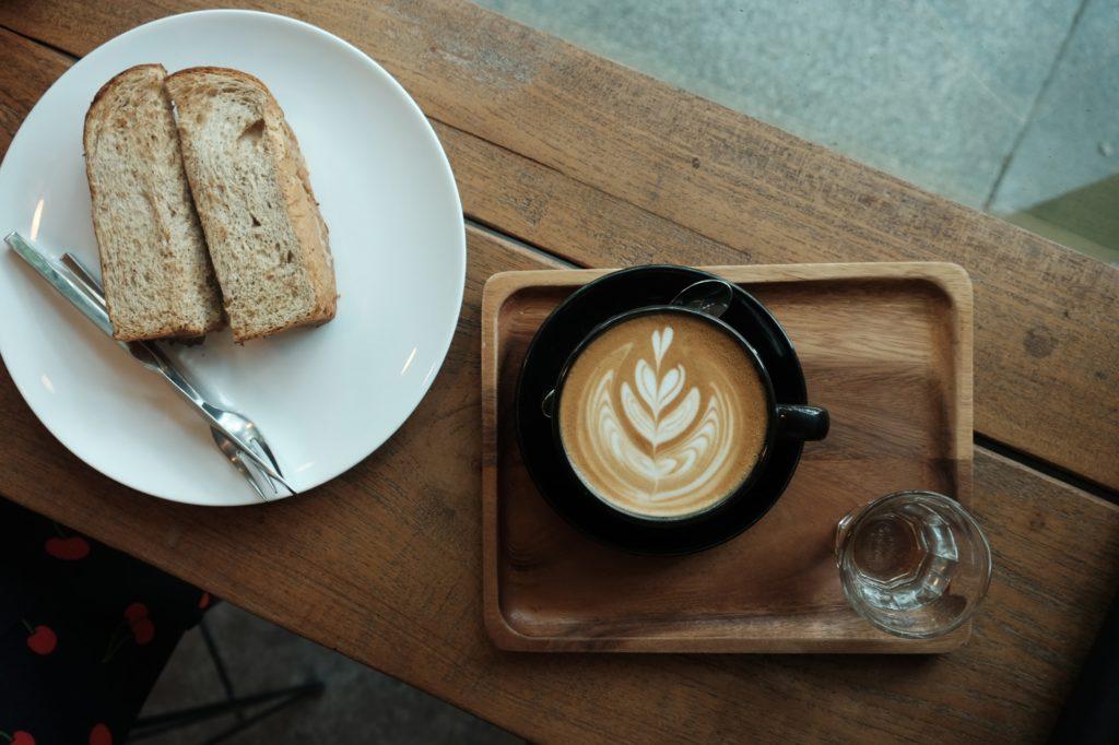 Hotel du Levant Paris french breakfast latte art