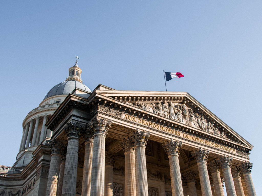 Hotel du Levant Paris Panthéon coupole drapeau